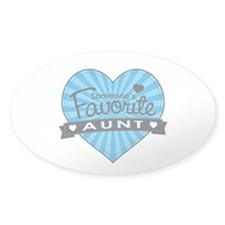 Favorite Aunt Blue Decal