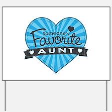 Favorite Aunt Blue Yard Sign