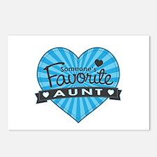 Favorite Aunt Blue Postcards (Package of 8)