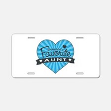 Favorite Aunt Blue Aluminum License Plate