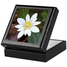 White Wildflower Keepsake Box
