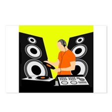 Turntable DJ with Speakers Postcards (Package of 8