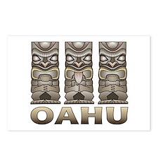 Oahu Tiki Postcards (Package of 8)