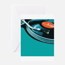 Turntable Vinyl DJ Greeting Card