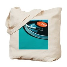 Turntable Vinyl DJ Tote Bag
