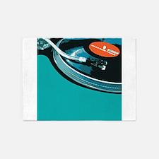 Turntable Vinyl DJ 5'x7'Area Rug