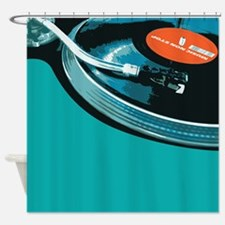 Turntable Vinyl DJ Shower Curtain