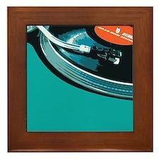 Turntable Vinyl DJ Framed Tile
