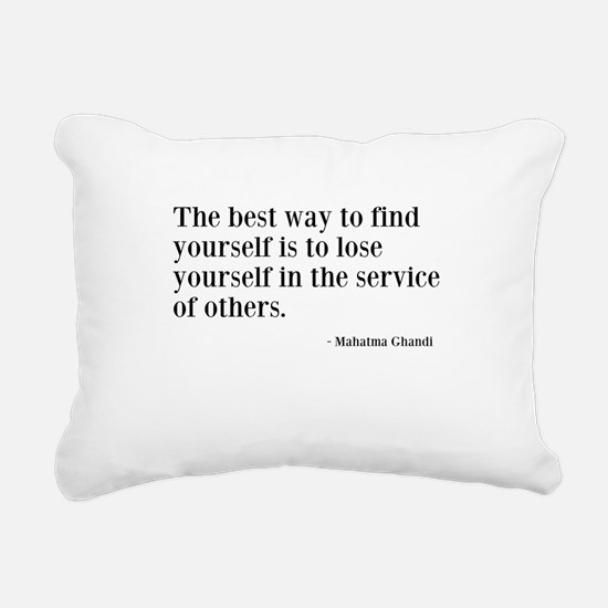 Find Yourself Rectangular Canvas Pillow