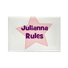 Julianna Rules Rectangle Magnet