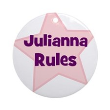 Julianna Rules Ornament (Round)