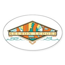 Nelson Ledges White Oval Decal