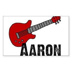 Guitar - Aaron Rectangle Decal