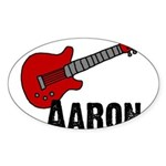 Guitar - Aaron Oval Sticker