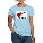 Guitar - Ashton Women's Pink T-Shirt