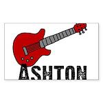 Guitar - Ashton Rectangle Sticker