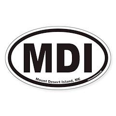 Mount Desert Island MDI Euro Oval Decal