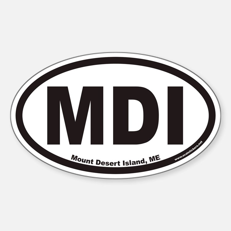 Mount Desert Island MDI Euro Oval Decal