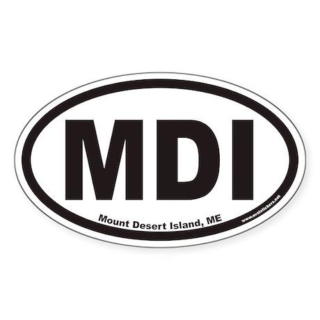 Mount Desert Island MDI Euro Oval Sticker