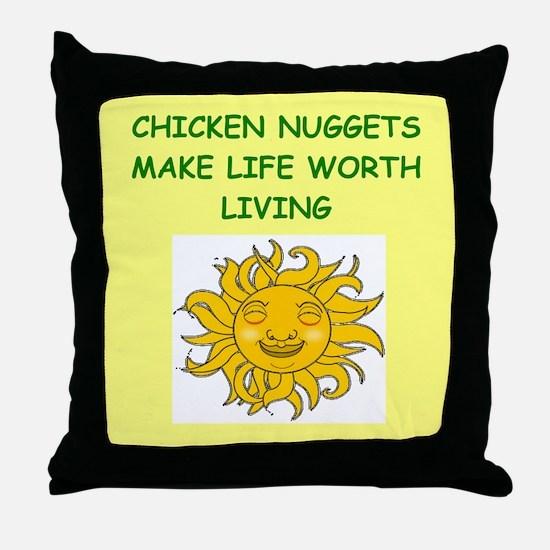 CHICKENNUG Throw Pillow