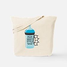 gangsta bottle blue Tote Bag