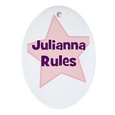 Julianna Rules Oval Ornament