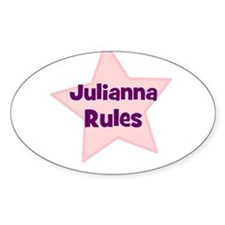 Julianna Rules Oval Decal