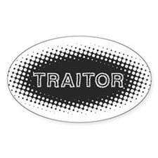 Traitor Oval Decal