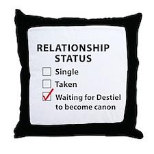 Relationship Canon Destiel Throw Pillow