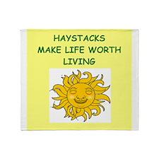 HAYSTACKS Throw Blanket