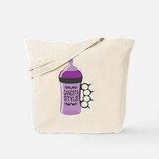 gangsta bottle purple Tote Bag