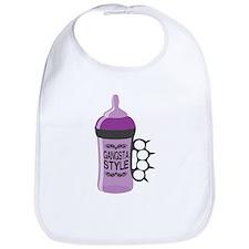 gangsta bottle purple Bib