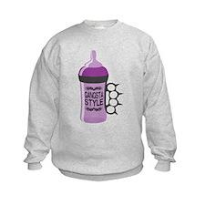 gangsta bottle purple Sweatshirt