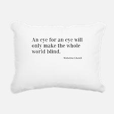 Eye For Eye Rectangular Canvas Pillow