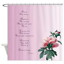 Dream Poem Floral Shower Curtain