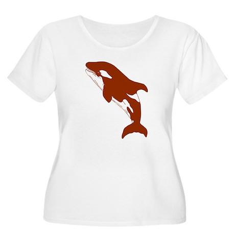 Dolphin's Women's Plus Size Scoop Neck T-Shirt