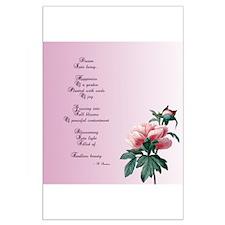 Dream Poem Floral Posters