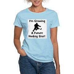 Growing A Future Hockey Star Women's Pink T-Shirt