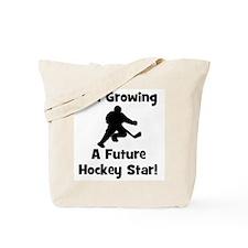 Growing A Future Hockey Star Tote Bag