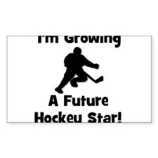Growing A Future Hockey Star Rectangle Decal