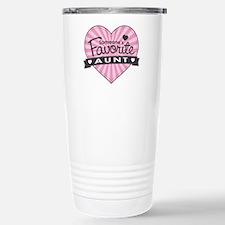 Favorite Aunt Pink Travel Mug