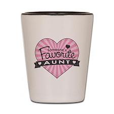 Favorite Aunt Pink Shot Glass
