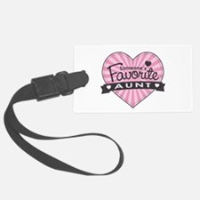Favorite Aunt Pink Luggage Tag