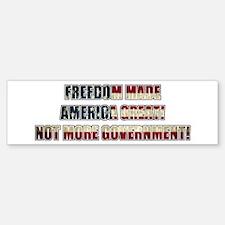 Freedom Not Government WF Bumper Bumper Bumper Sticker