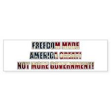Freedom Not Government WF Bumper Bumper Sticker