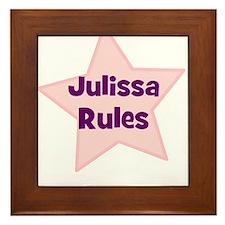 Julissa Rules Framed Tile