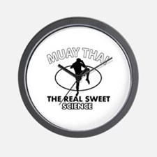 Muay Thai the real sweet science Wall Clock