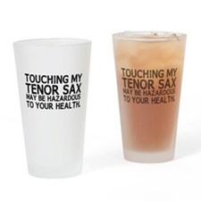 Tenor Sax Hazard Drinking Glass