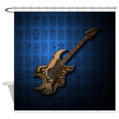 KuuMa Guitar 04 (B) Shower Curtain