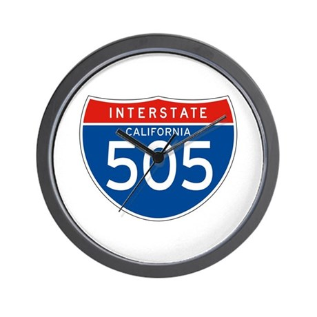 Interstate 505 - CA Wall Clock